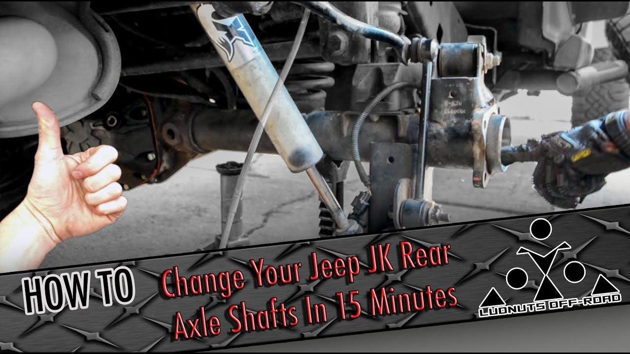 How To: Change Jeep JK Rear Axle Shafts In 15 Minutes