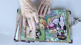 Fairyland Themed Journal with pop ups