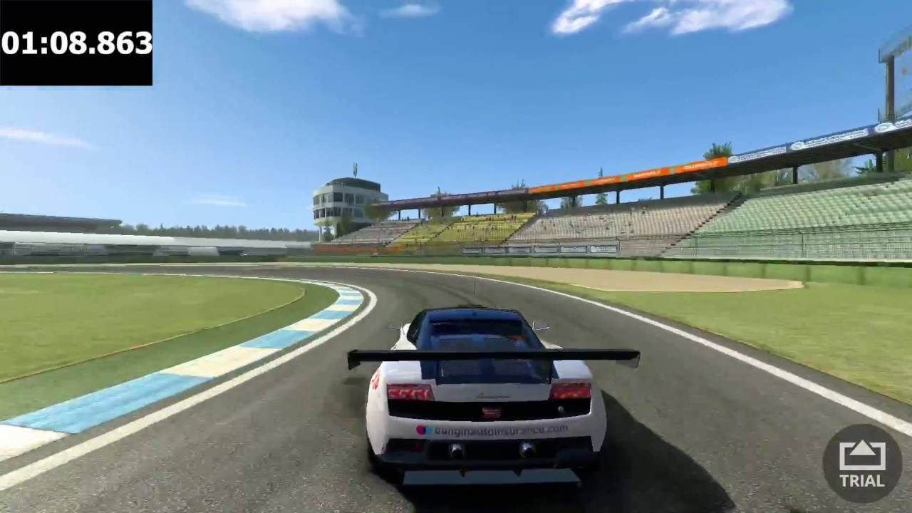 Real Racing 3   Lamborghini Gallardo LP560 GT3 Time Trial [Hockenheimring]