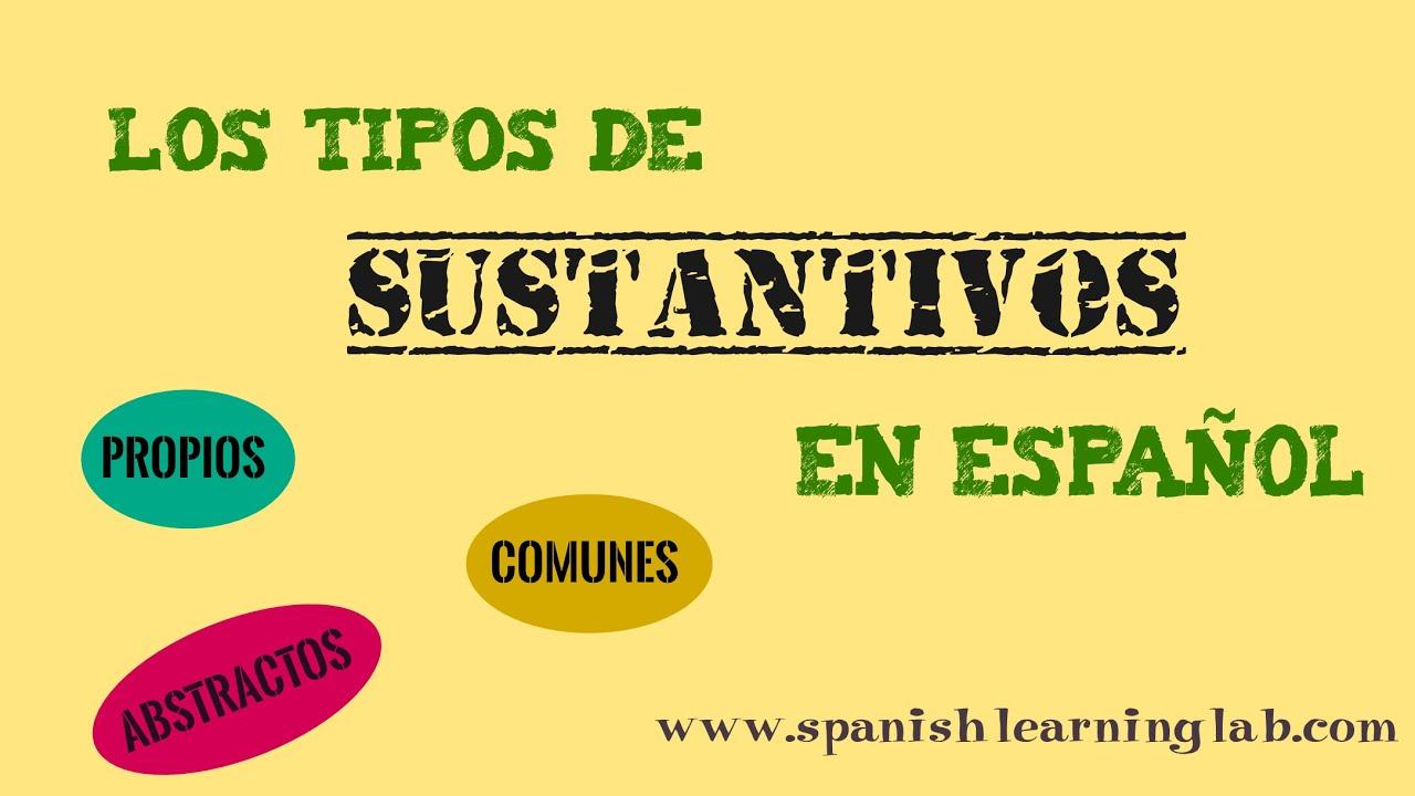 Los Tipos De Sustantivos En Español Definición Y Ejemplos Youtube