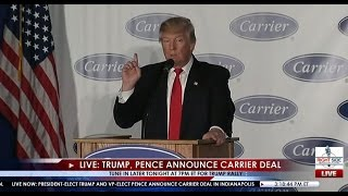 Full Event: Donald Trump, Mike Pence Carrier Plant Announcement 12/1/16