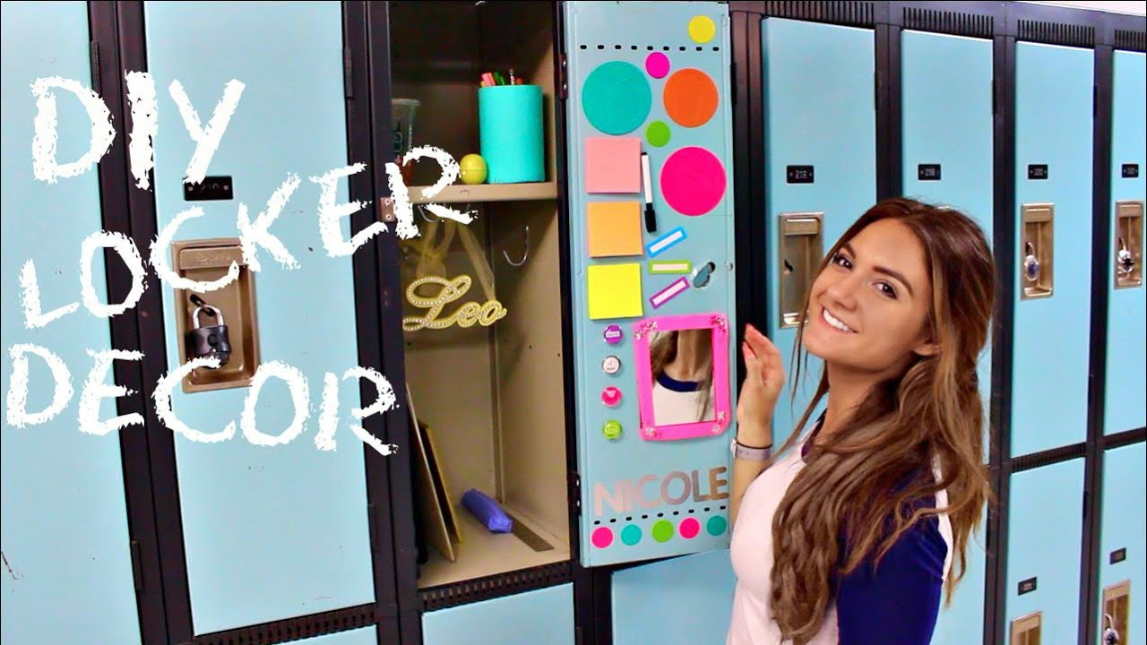 Back To SCHOOL: LOCKER DECORATIONS + DIY LOCKER DECOR   YouTube