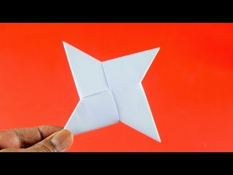 How to Make a Stylish Paper Ninja Star | Very Simple and Easy Way-DIY !