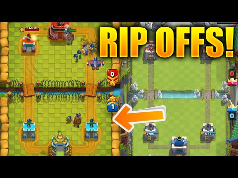 TOP 3 CLASH ROYALE RIP OFFS! Worst Clash Royale CLONES Available EVER!