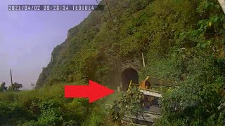 Video shows catastrophic train crash in Taiwan's Hualien County