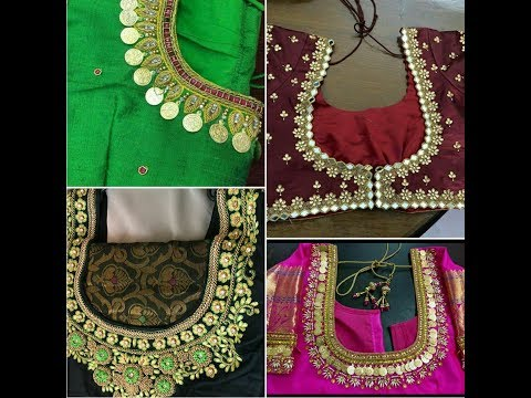 Top 30 Latest Blouse Designs 2018 || Maggam Work || Maggam Work With Kasu