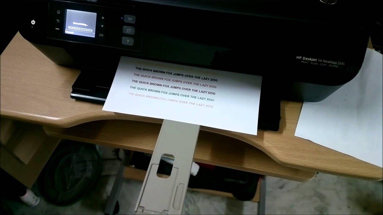 HP 3545 Duplex Printing Demo