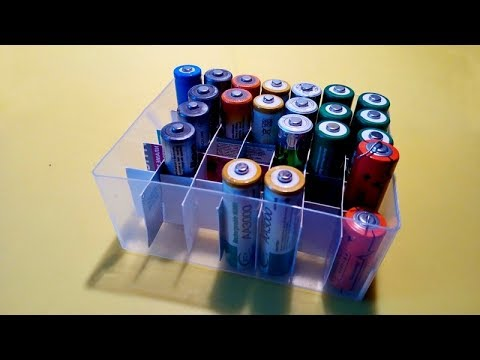 Контейнер для сбора батареек своими руками