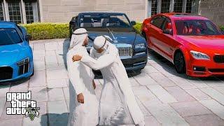 GTA 5 REAL LIFE MOD#126-FRANKLIN MEETS PRINCE OF DUBAI