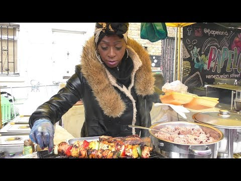Food From Jamaica Seen And Tasted In Portobello Road. London Street Food