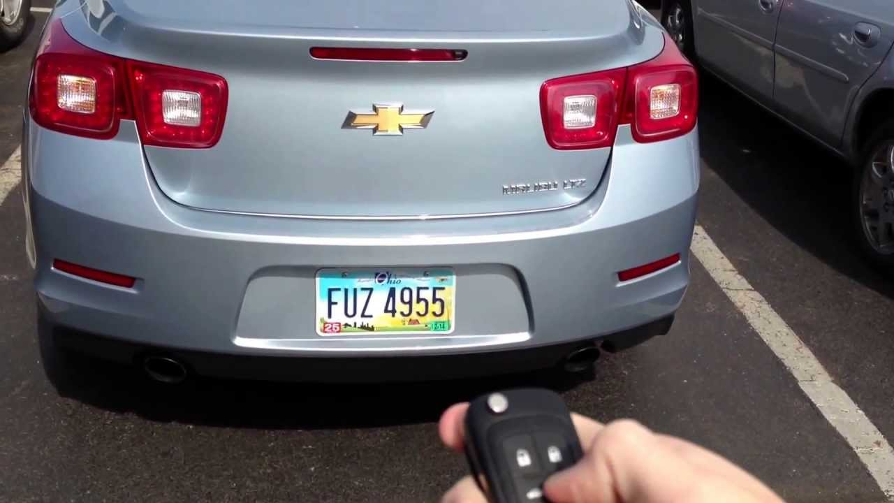 2013 Chevrolet Malibu Ltz Remote Start Youtube