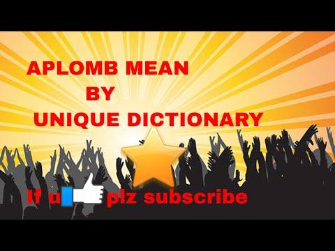 Aplomb means