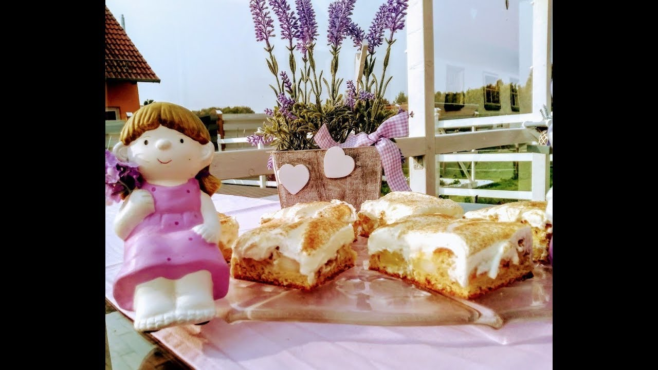 Lecker Apfel Schmand Kuchen Vom Blech Youtube