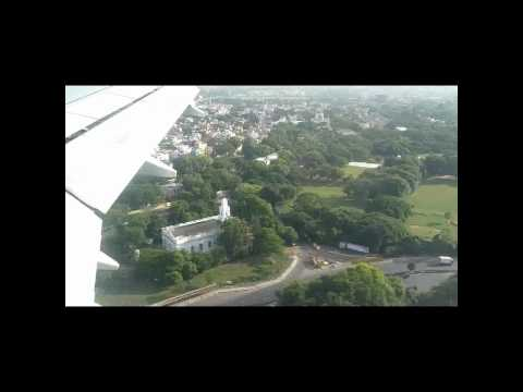 Chennai City (India) - Aerial Tour (Flight Landing) | HD | w