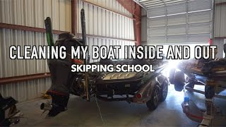 skipping school to clean my boat bass fishing vlog