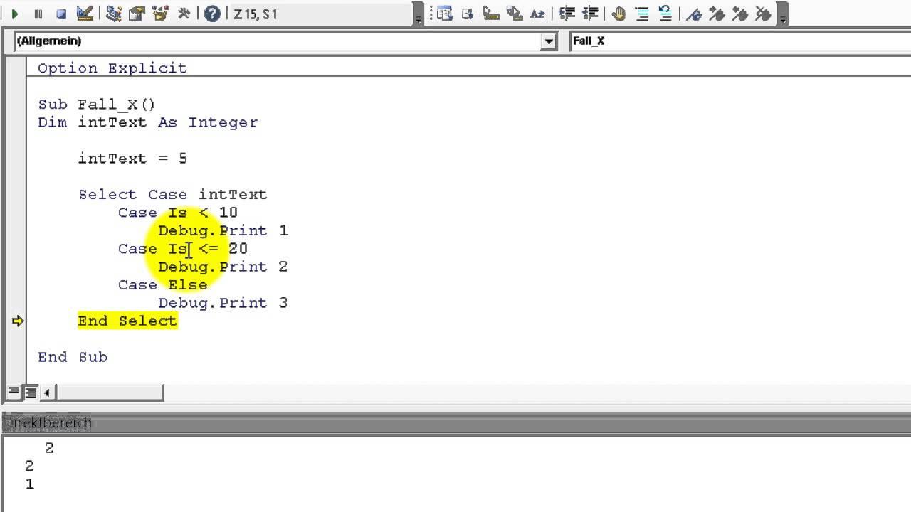 Excel # 343 - VBA Select Case - Prüfungen - YouTube