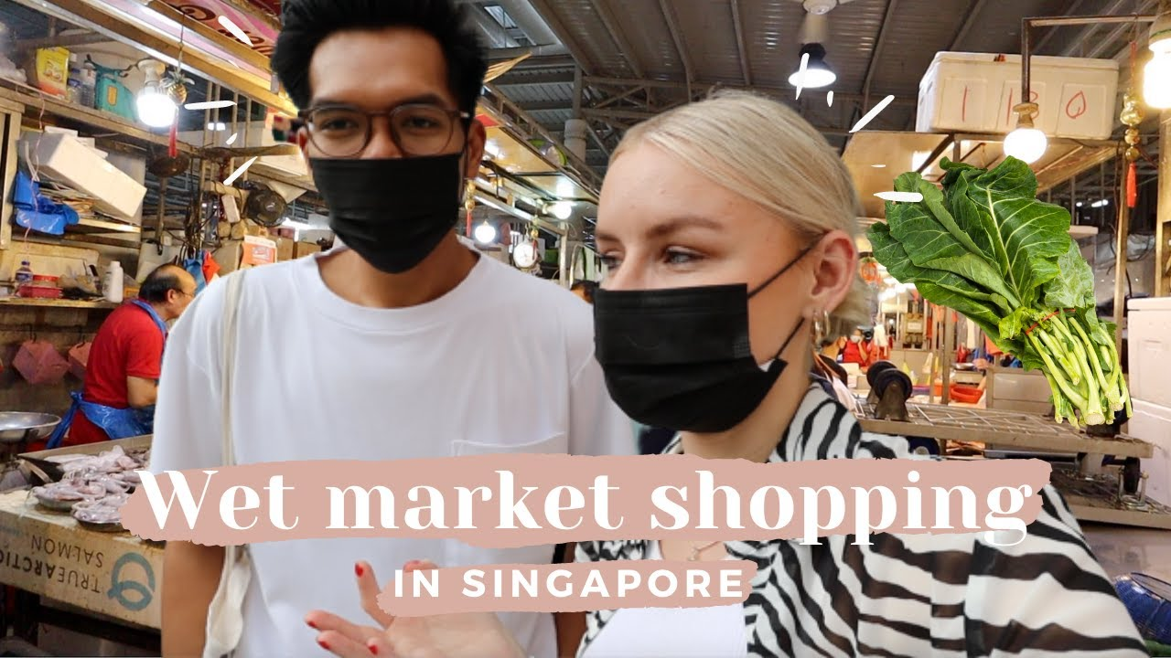 Shopping in a Singapore Wet Market Like a Local! + Cook With Us 🇸🇬🥬