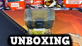 ABRIENDO UN COFRE DE FORTNITE EN LA VIDA REAL! Unboxing figuras fortnite 2019