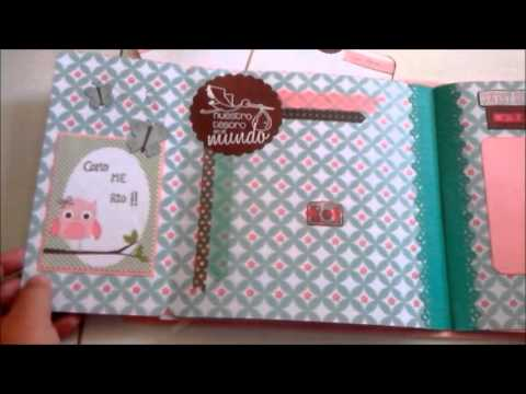 lbum beb scrapbooking versi n ni a youtube. Black Bedroom Furniture Sets. Home Design Ideas