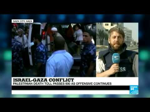 Israel-Gaza Conflict - Palestinian death toll passes 600