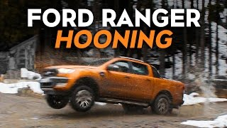 Hooning A New Ford Ranger Pickup Off-Road