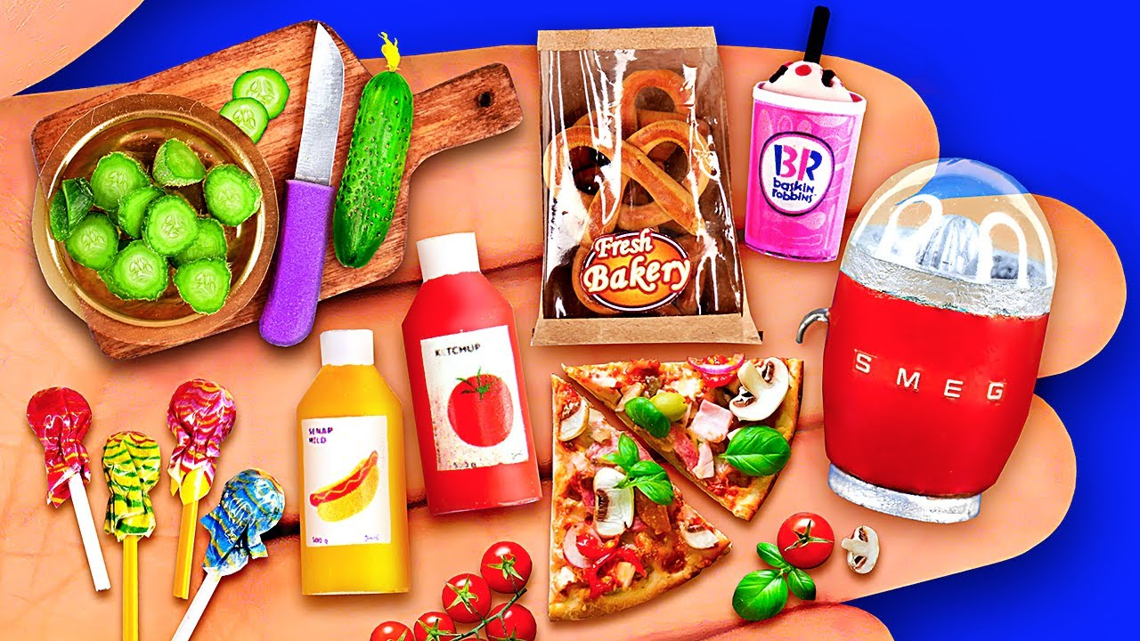 16 MINIATURE REALISTIC FOOD IDEAS TO DIY