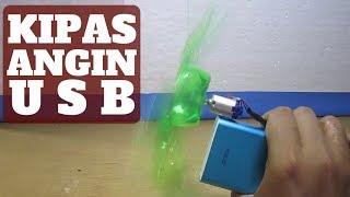Membuat Kipas Angin USB Dengan Tenaga Powerbank Dan Baling Baling Botol Plastik