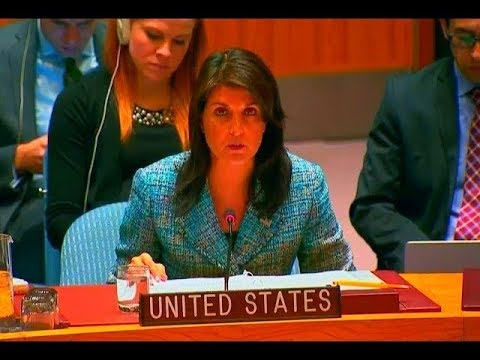 UN Ambassador Nikki Haley gives IMPORTANT Update at the Security Council in New york