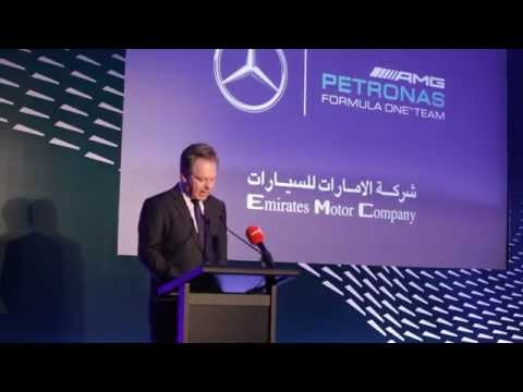 Emirates Motor Company Hosts Mercedes AMG Petronas Formula One team in Abu Dhabi