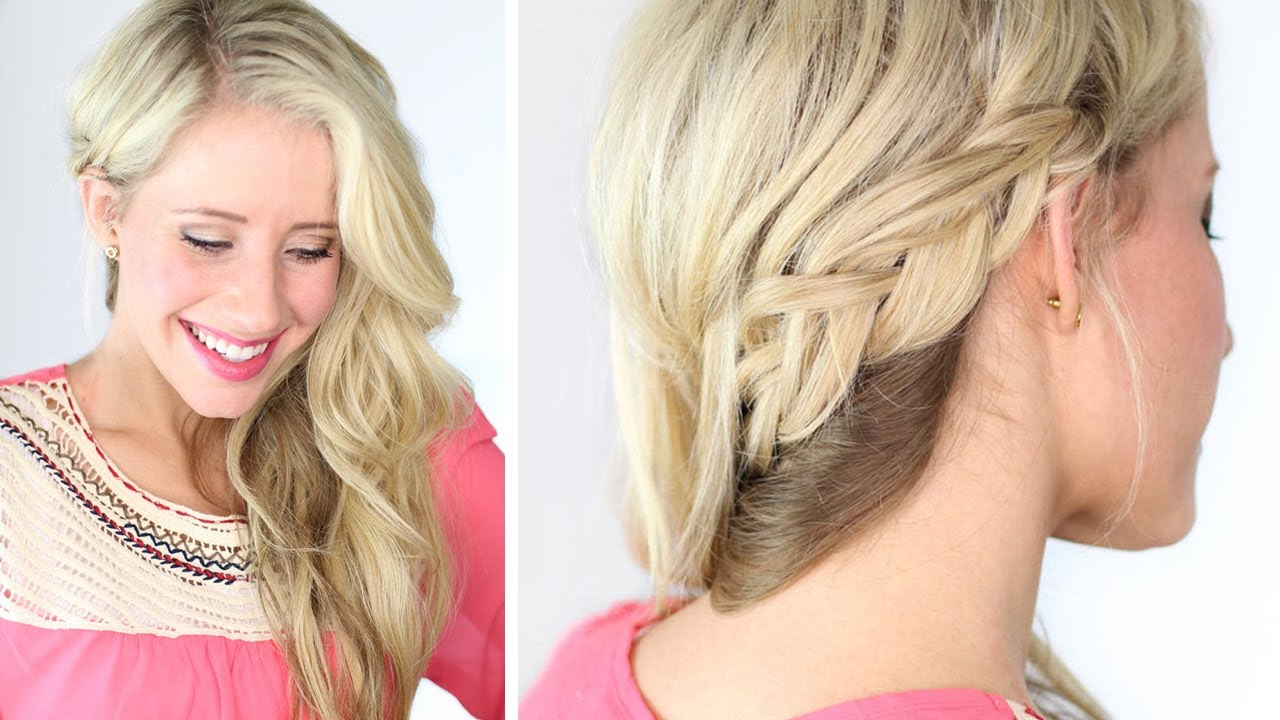 Braided To One Side A Wedding Prom Hairstyle YouTube