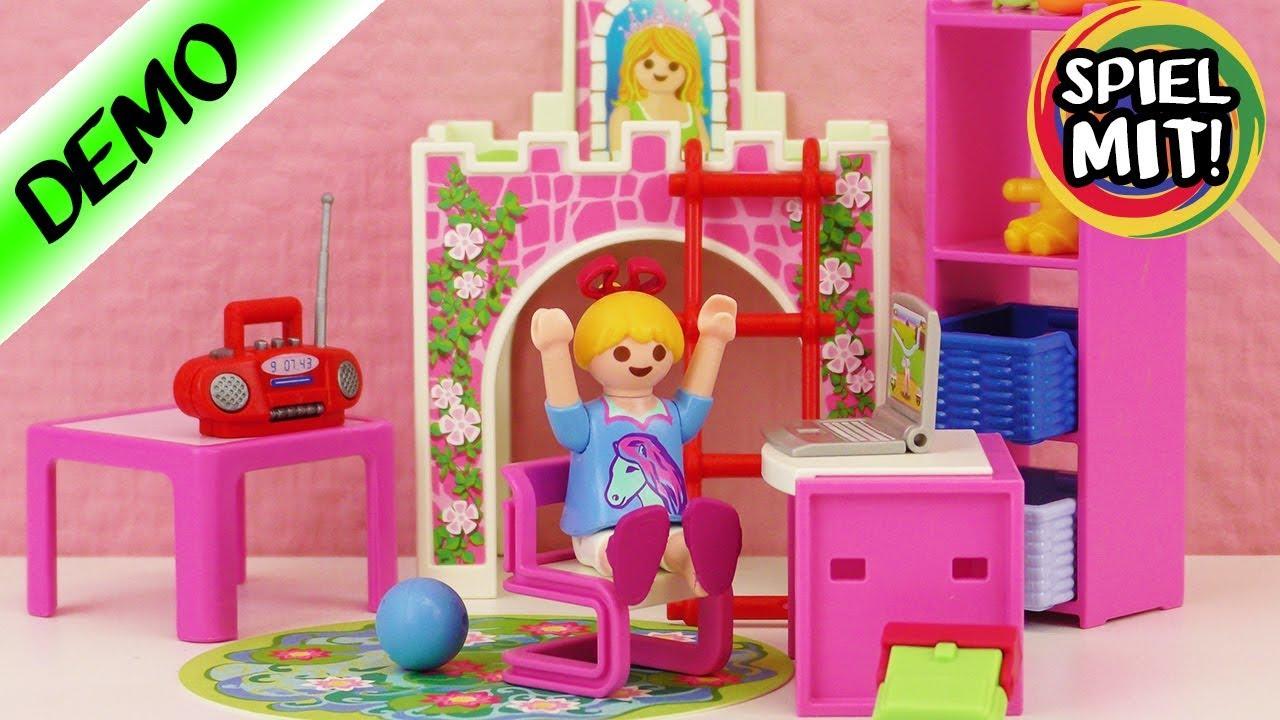 Playmobil kinderzimmer hannah hat neues zimmer dornr schen bett schreibtisch aufbau youtube - Kinderzimmer hannah ...