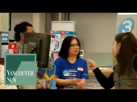 (WARNING: Vulgar language) 'Speak English in Canada,' woman rants at drug store staff in Burnaby