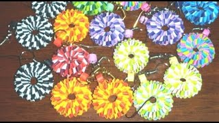 34. How to make best Quilling Boondoggling Paper Weaving Earrings