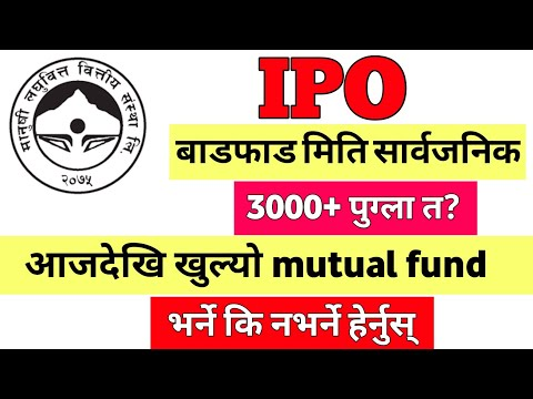 IPO RESULT DATE FIX   MEGHA MUTUAL FUND   stock market   share market in nepal ipo