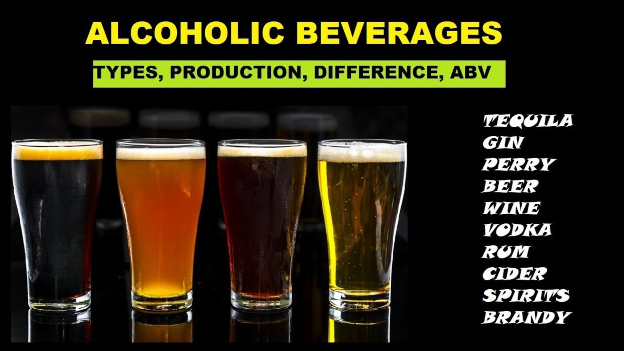 Alcoholic Beverages: Types, Difference and ABV - YouTube