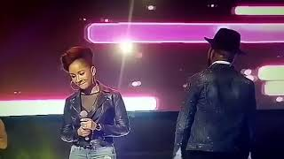 Banky w and Adesuatomi performs together for the first time
