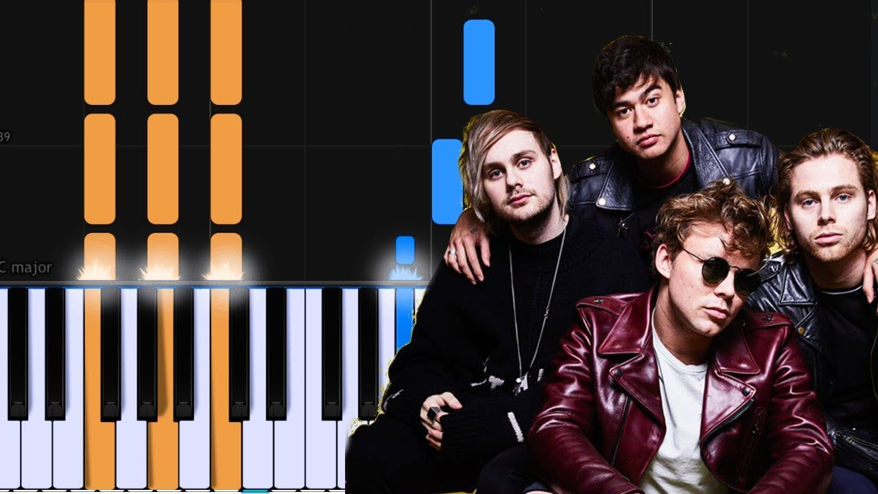 5 Seconds Of Summer Ghost Of You Piano Tutorial Chords How