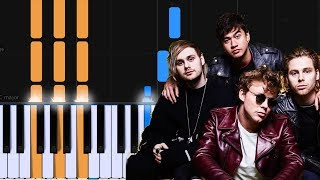 "5 Seconds Of Summer - ""Ghost Of You"" Piano Tutorial - Chords - How To Play - Cover"