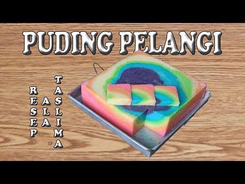PUDING PELANGI AGAR AGAR BERWARNA WARNI ( rainbow pudding )