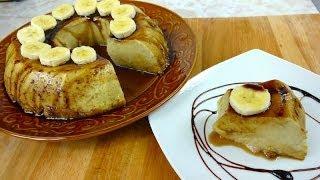Flan de Plátano - ¡Te va a encantar!