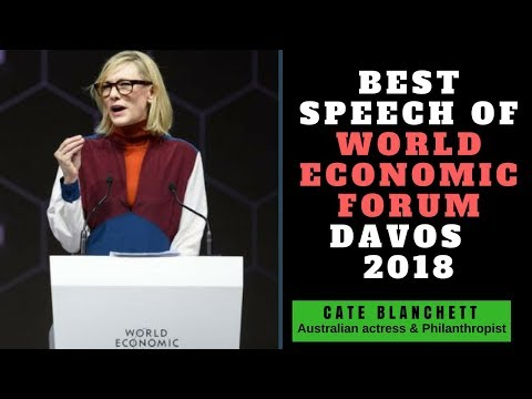 Cate Blanchett powerful speach at world Economy Forum 2018||Cate Blanchett got awarded Crystal Award