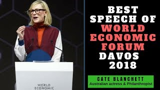 Cate Blanchett powerful speach at world Economy Forum 2018||Cate Blanchett got awarded Crystal Award