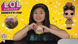L.O.L.  Surprise Confetti Pop | Sleepover Club | We've got a BROKEN DOLL! | #CollectLOL