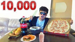 """RETO 10 MIL CALORÍAS EN UN DIA """"comida chatarra"""" (HotSpanish Vlogs)"""