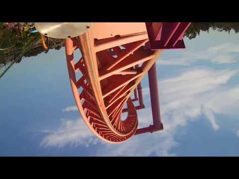 Vertical Velocity Front Seat HD POV and Review Six Flags Discovery Kingdom