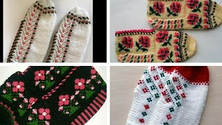 en yeni beş şiş patik modelleri/ patik örnekleri/beş şiş çorap örnekleri/jik patik modelleri
