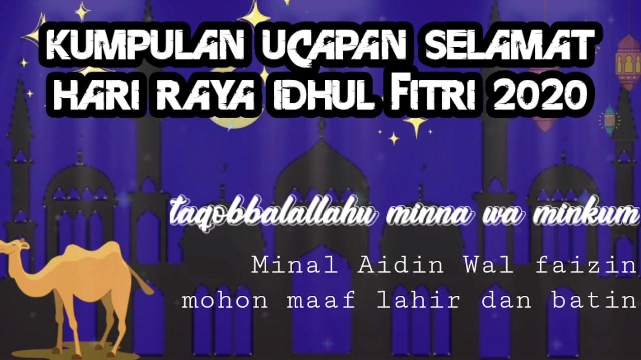 Ucapan Hari Raya Idul Fitri 2020 1 Syawal 1441