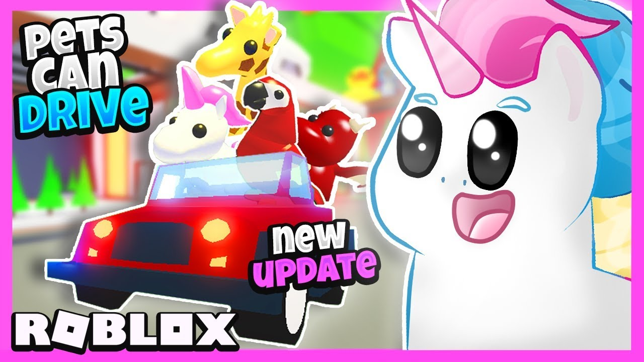 Legendary Pets Can Drive New Adopt Me Update Driving Pets In