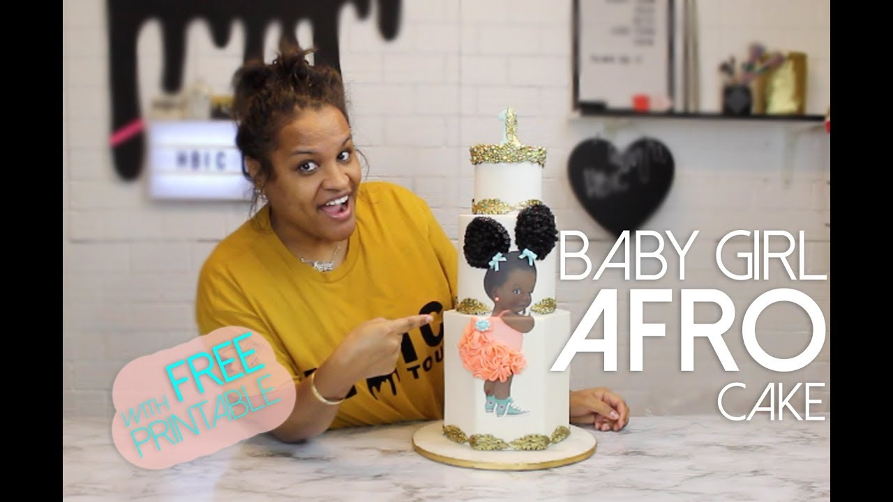 Afro Baby Puff Cake How To