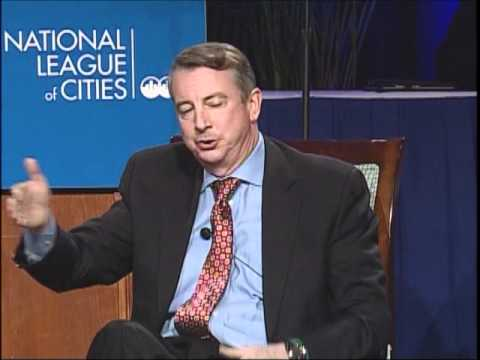 Ed Gillespie and Terry McAuliffe at the 2012 Congressional City Conference